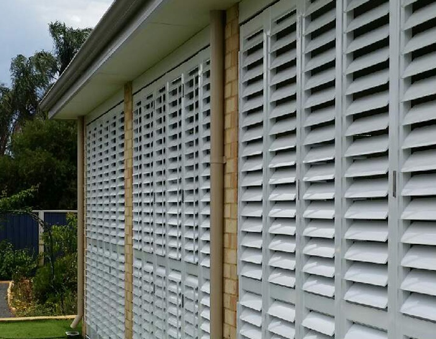 Perth Aluminium Louvered Shutters The Blinds Gallery